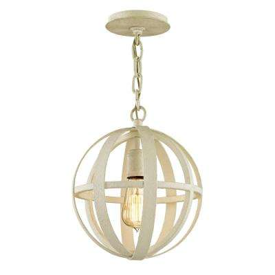 Flatiron 1-Light Gesso White 10.25 in. W Pendant