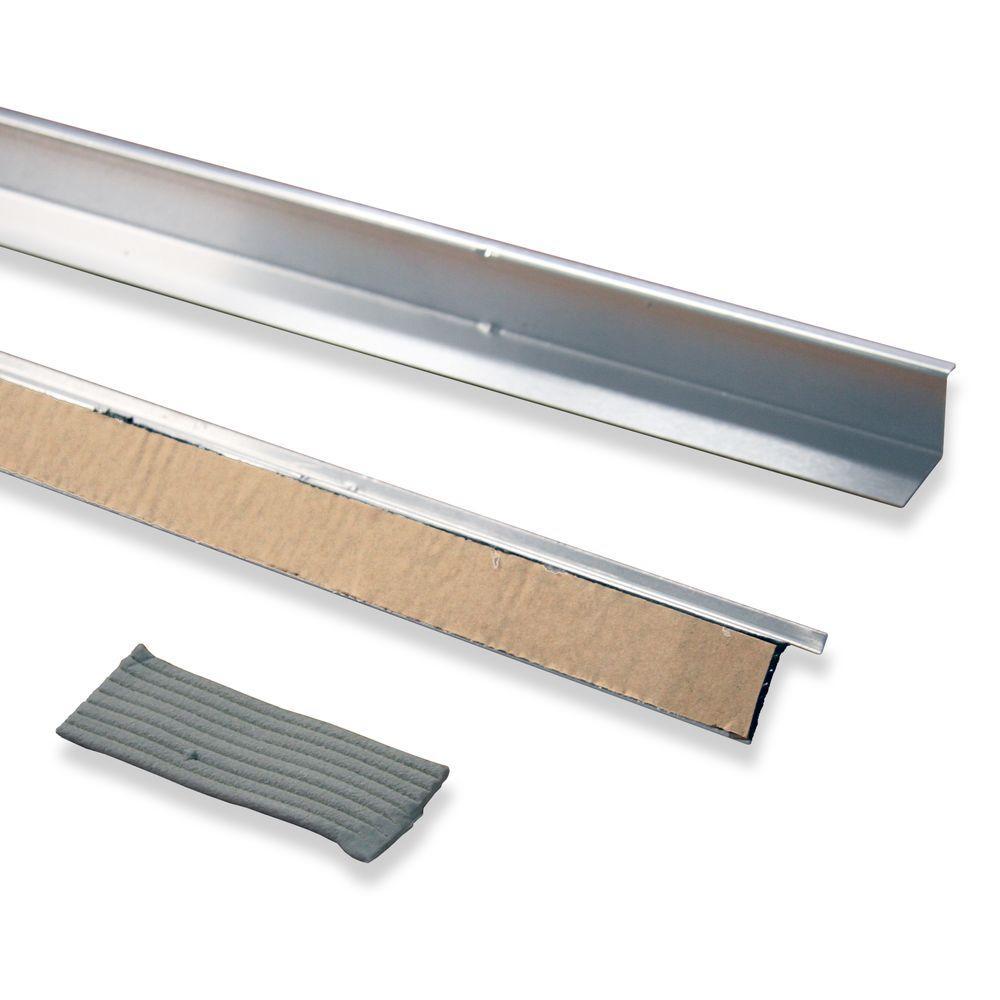 36 in. Natural Aluminum Doorbrella and Putty Seal (2-Pieces)