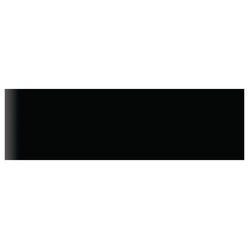 Daltile Modern Dimensions 2-1/8 in. x 8-1/2 in. Black Ceramic Bullnose Wall Tile-DISCONTINUED
