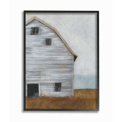 """16 in. x 20 in. """"Worn Old Barn Farm Painted"""" by Ethan Harper Printed Framed Wall Art"""