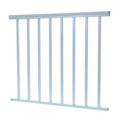 3/4 in. x 38 in. x 36 in. Aluminum White Baluster Railing