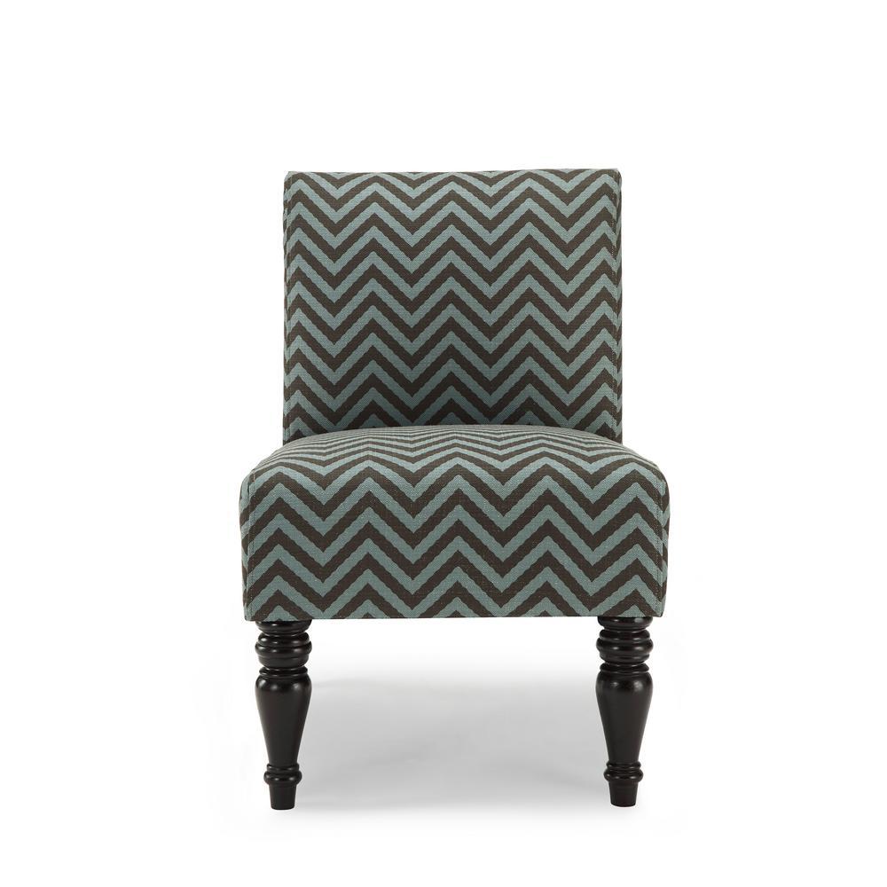 Hampton Teal Ziggi Accent Chair AC-HMP-ZIG-TE