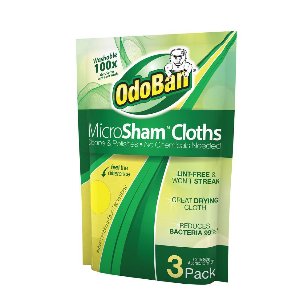 OdoBan MicroSham Cloth (3-Pack)