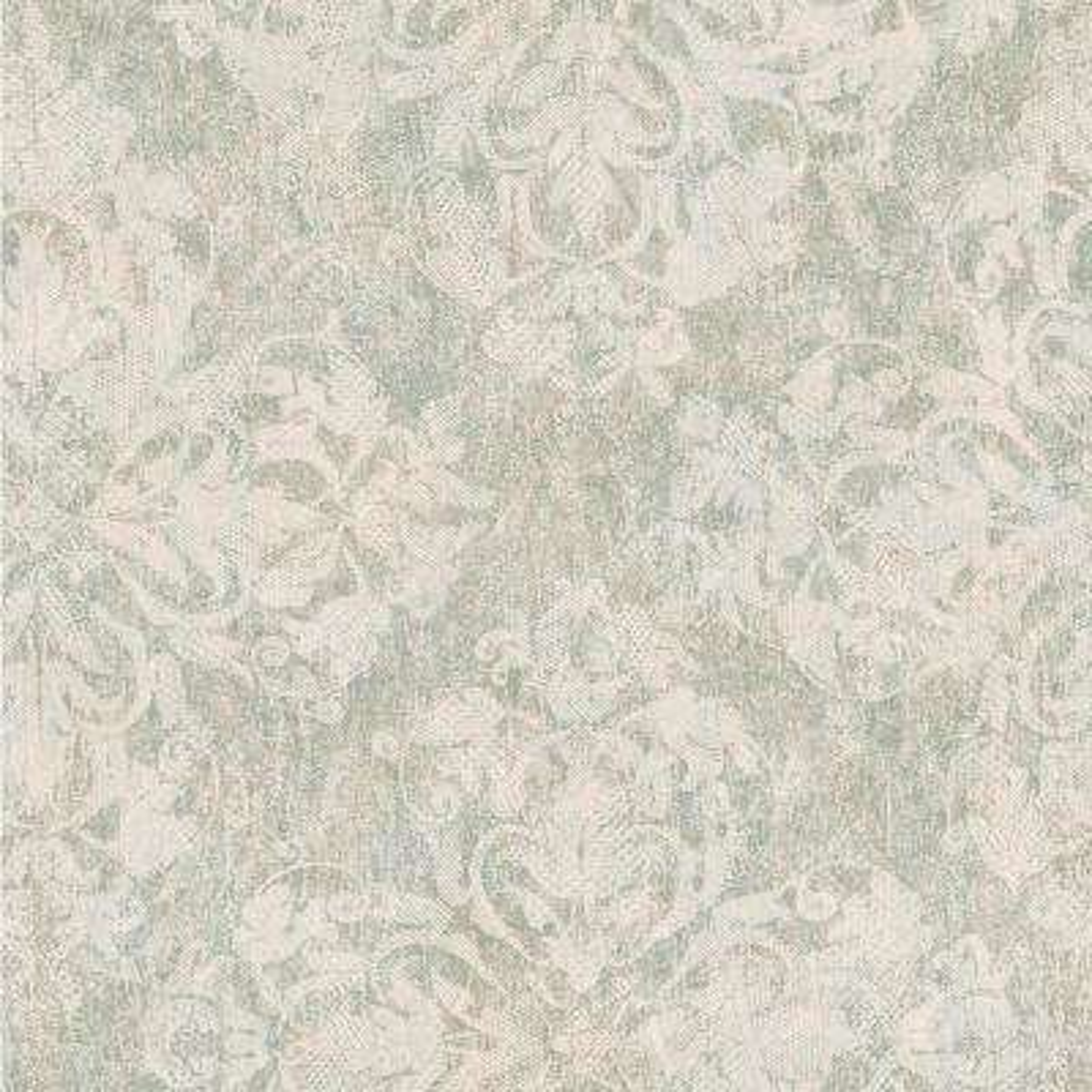 Leia Sage Lace Damask Wallpaper Sample