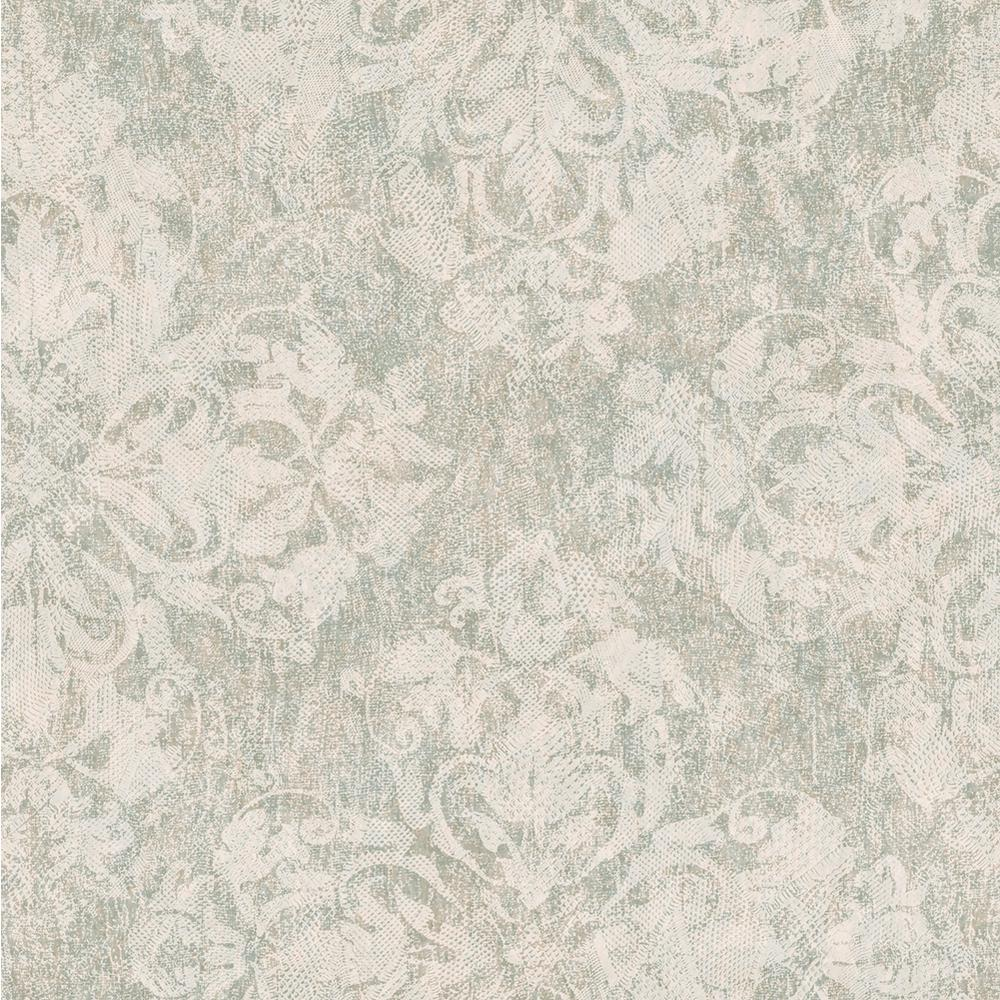 Chesapeake Leia Sage Lace Damask Wallpaper, Beige was $28.17 now $18.01 (36.0% off)