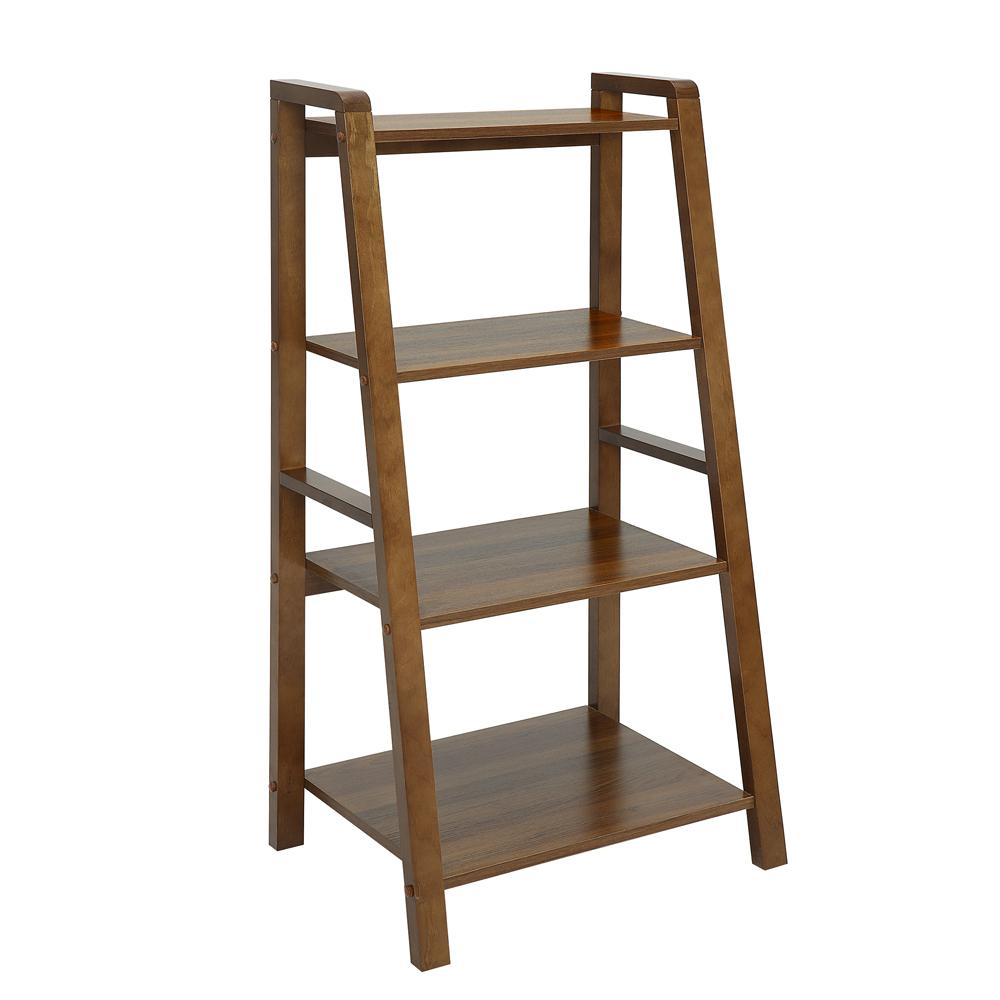 USL Charles Natural Walnut Small Office Bookcase