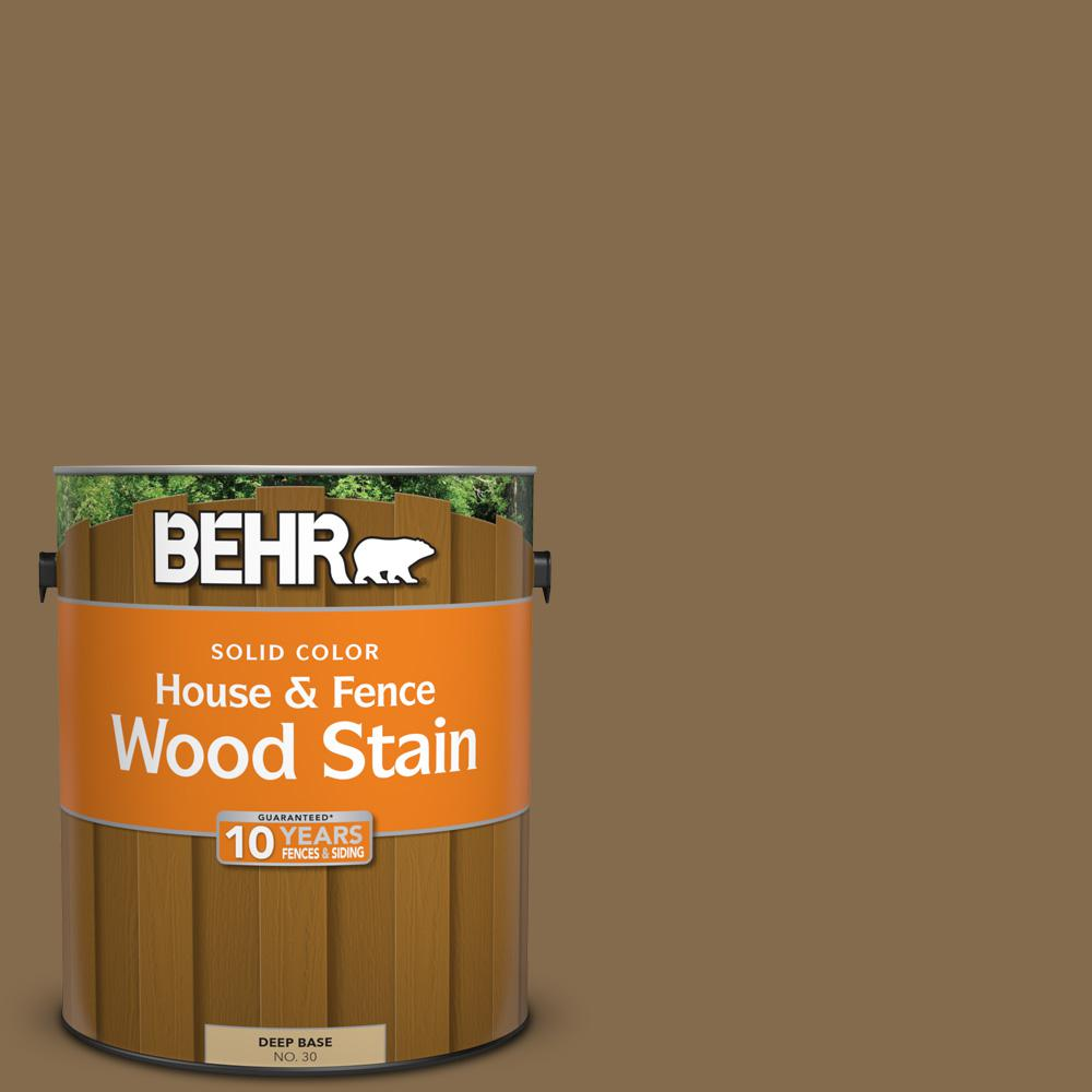 BEHR 1 gal. #SC-147 Castle Gray Solid Color House and Fence Wood Stain