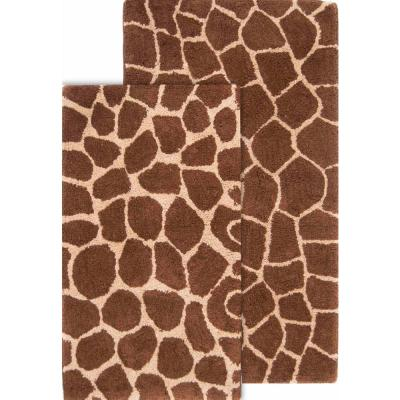 Animal Print Machine Washable Bath