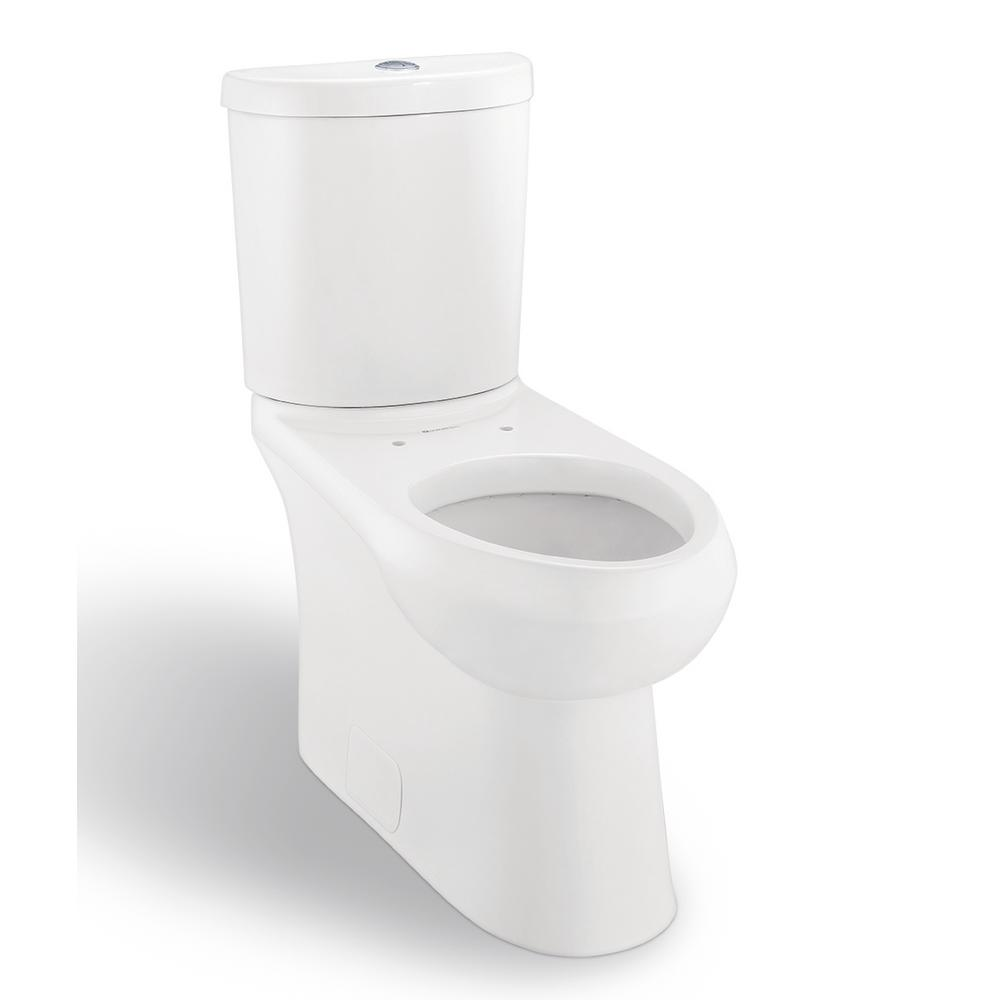 Concealed Trapway 2-Piece 1.1 GPF/1.6 GPF Dual Flush Elongated Toilet in