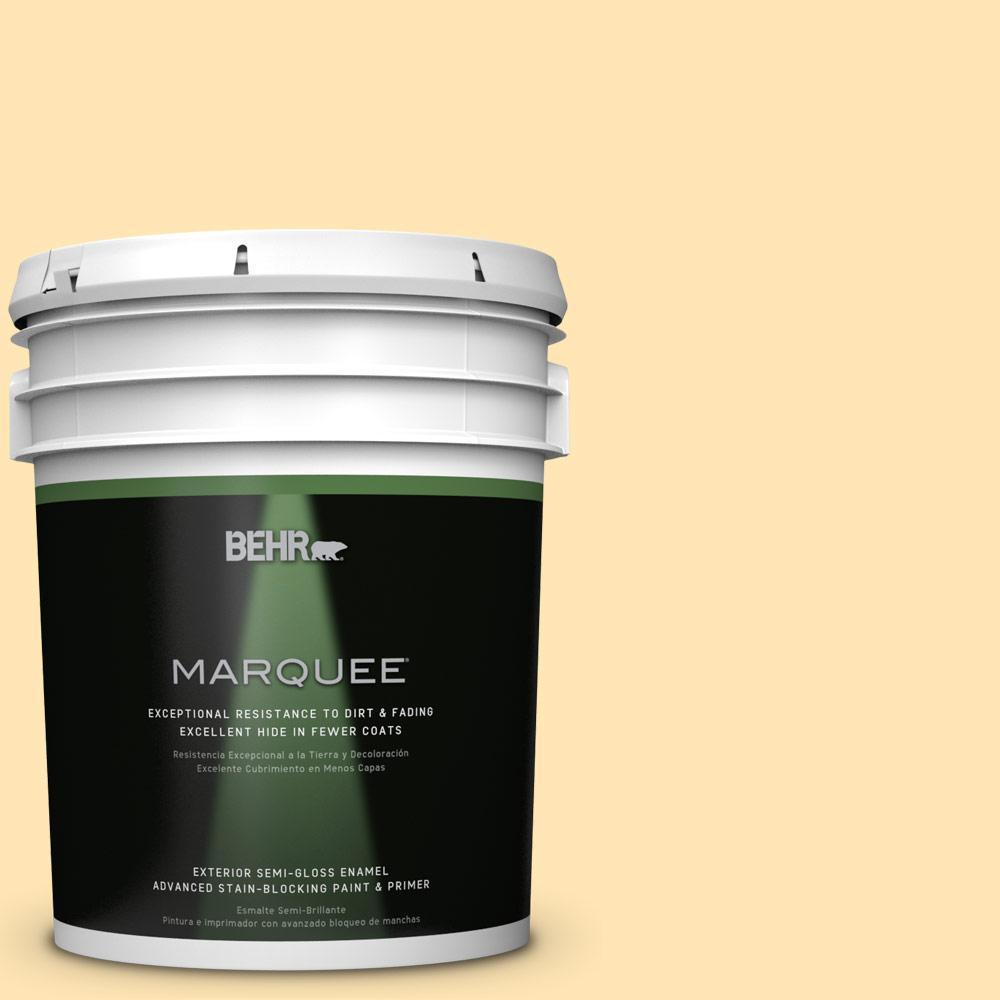 5-gal. #P260-3 Vanilla Ice Cream Semi-Gloss Enamel Exterior Paint