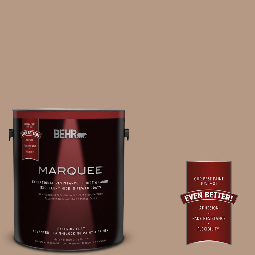 BEHR MARQUEE 1-gal. #250F-4 Stone Brown Flat Exterior Paint