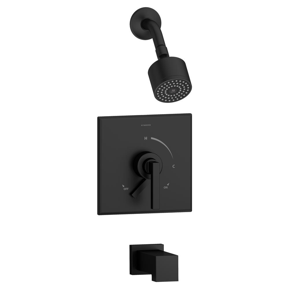 Symmons Duro Single-Handle 1-Spray Tub and Shower Faucet in Matte ...