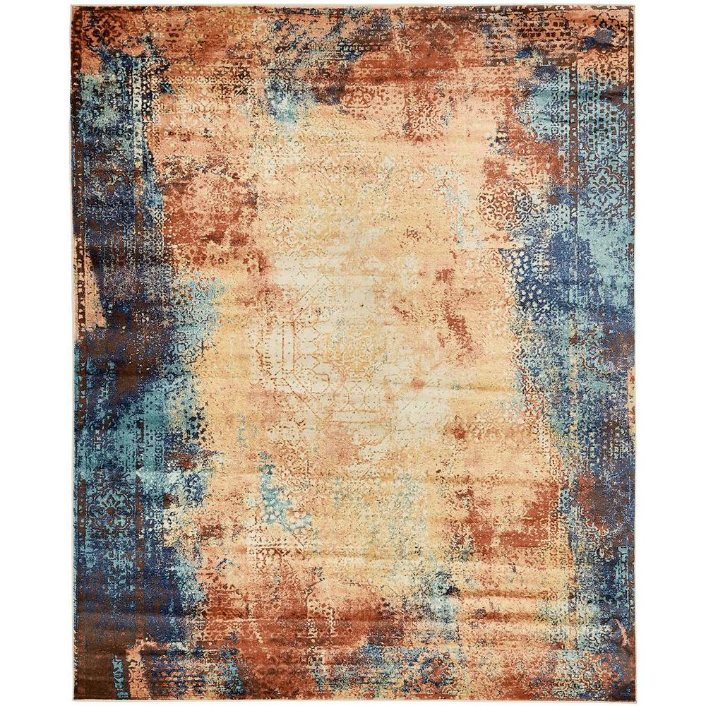 Unique Loom Brick Red 8 Ft X 10 Ethereal Area Rug