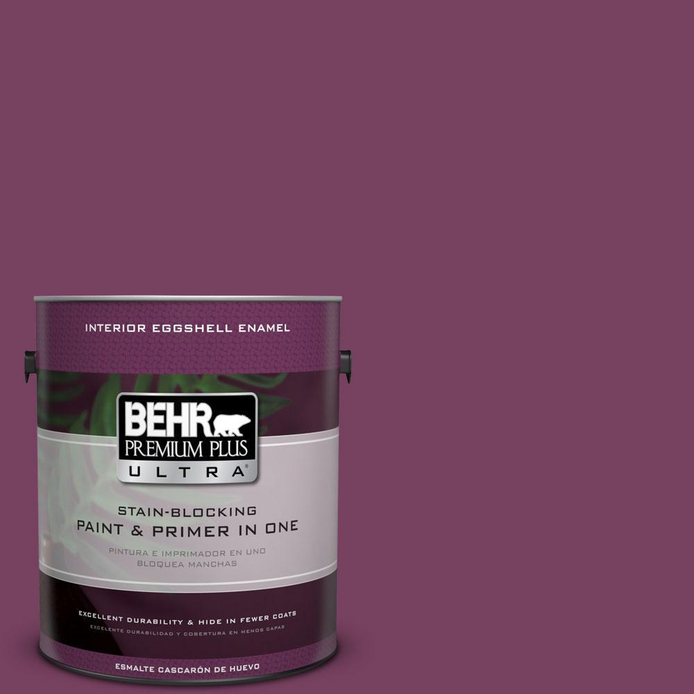 1 gal. #690B-7 Plum Jam Eggshell Enamel Interior Paint and Primer