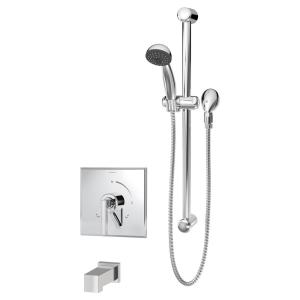 Canterbury 1-Handle Wall Mounted Tub and Hand Shower Trim Kit in Chrome (Valve Not Included)