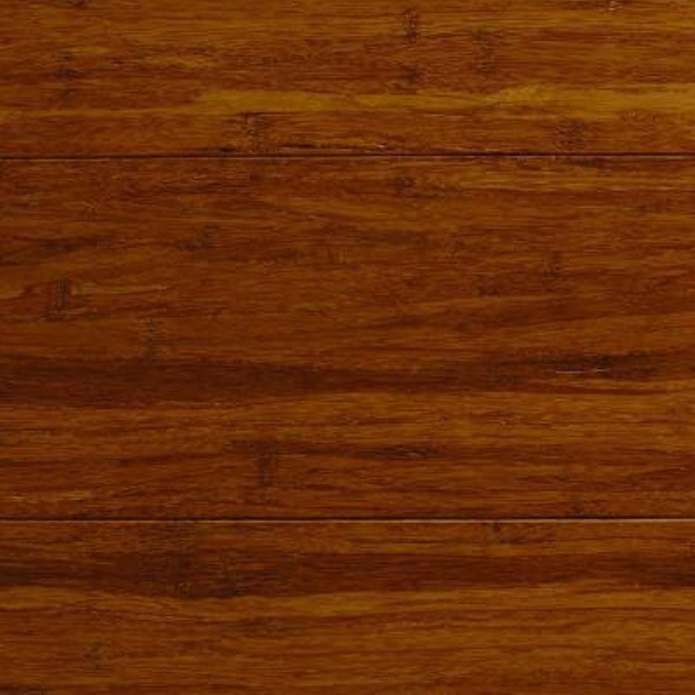 null Take Home Sample - Strand Woven Antiqued Harvest Solid Bamboo Flooring - 5 in. x 7 in.