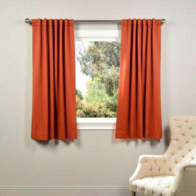 Semi-Opaque Blaze Orange Blackout Curtain - 50 in. W x 63 in. L (Panel)