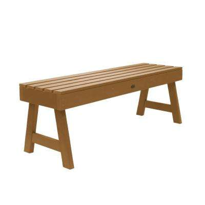 Weatherly 48 in. 2-Person Toffee Recycled Plastic Outdoor Picnic Bench