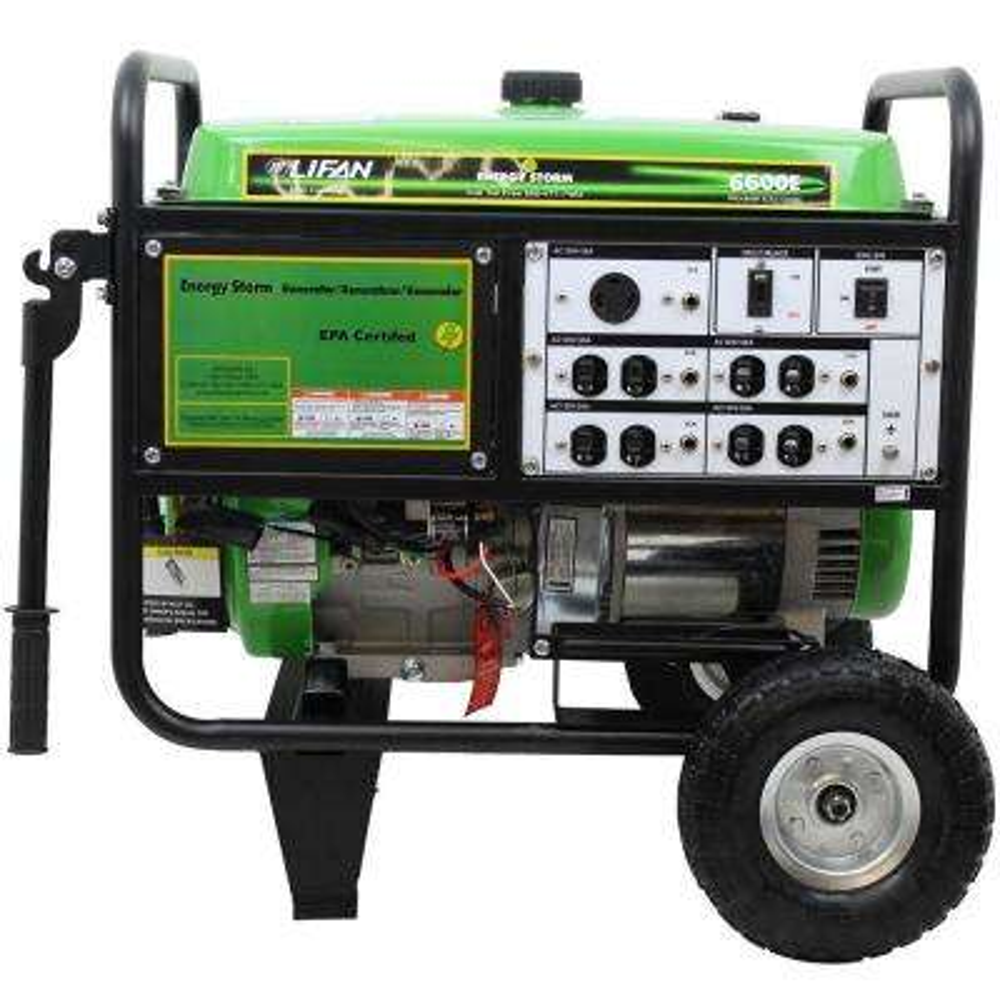 Energy Storm 6,600-Watt Gasoline Powered Electric Start Portable Generator