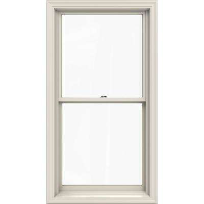 29.375 in. x 56.5 in. W-2500 Series Primed Wood Double Hung Window w/ Natural Interior and Low-E Glass