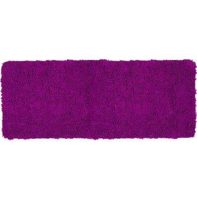 Shag Purple 24 in. x 60 in. Memory Foam Bath Mat