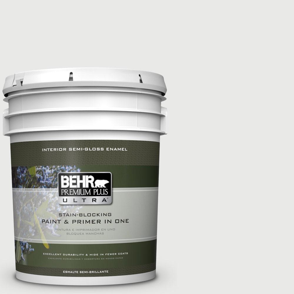 5 gal. #HDC-CT-22G Chalk Dust Semi-Gloss Enamel Interior Paint