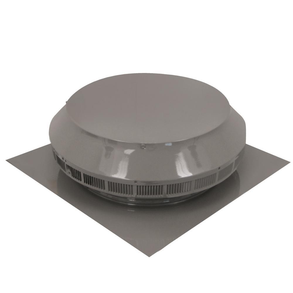 14 in. Dia Aluminum Roof Louver Exhaust Vent in Weatherwood Powder Coat