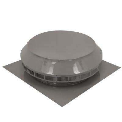 14 in. Dia Aluminum Roof Louver Exhaust Vent in Weatherwood Powder Coat