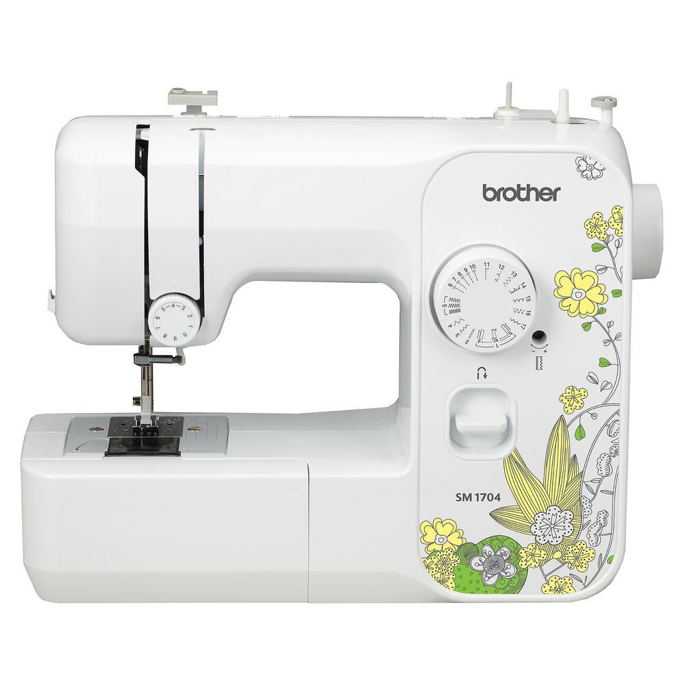 Brother 17 stitch sewing machine sm1704 the home depot for Best home decor sewing machine