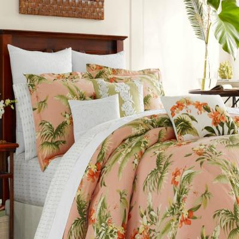 Siesta 4-Piece Cantaloupe Orange King Comforter Set