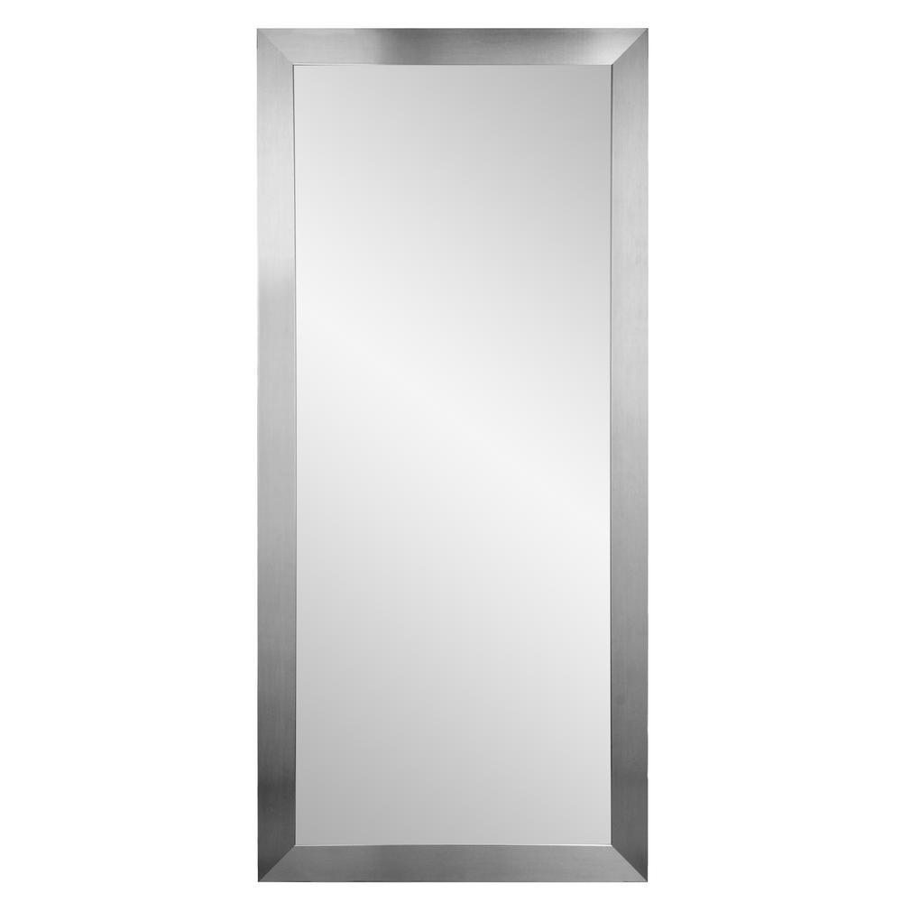 Premium Silver 32 in. x 71 in. Floor Mirror