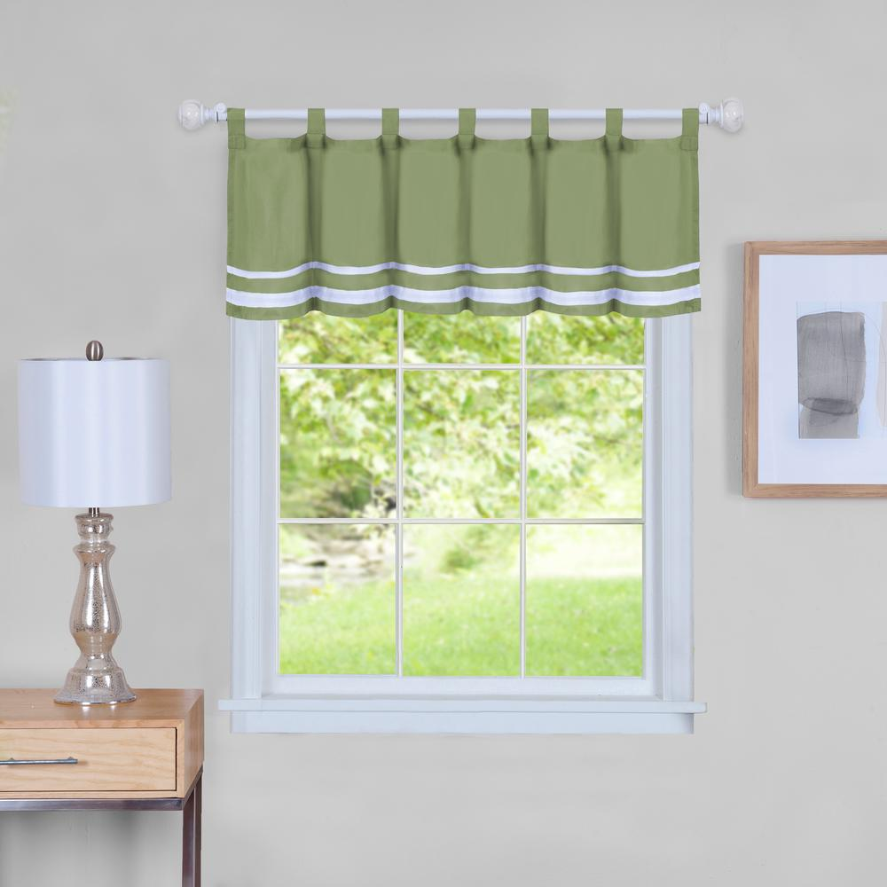 Dakota 14 in. L Polyester Valance in Green