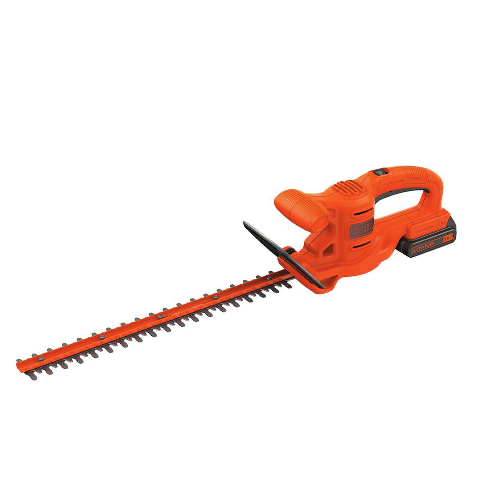 BLACK+DECKER 20-Volt Max Lithium-Ion Electric Cordless 18 in. Hedge Trimmer