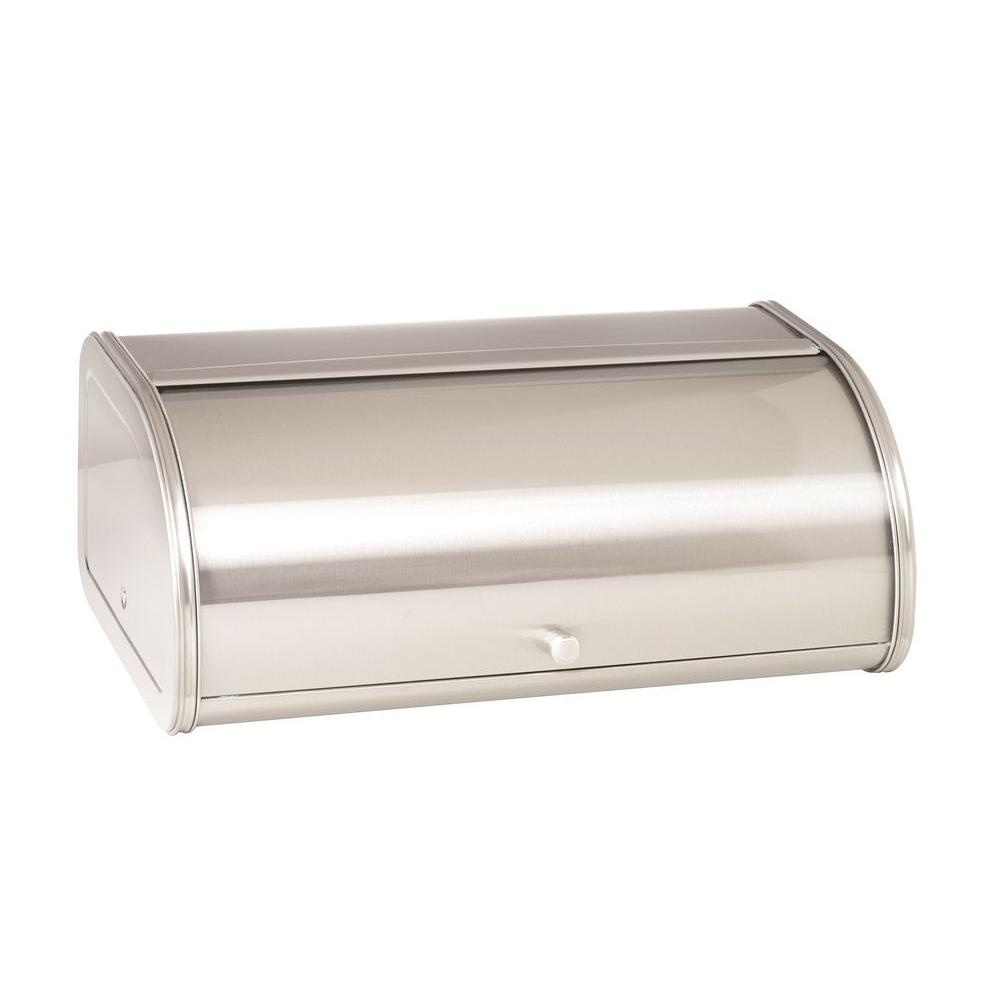 Anchor Hocking Brushed Steel Bread Box, Silver Brushed stainless steel bread box designed with style. Keep breads fresh and out-of-sight all at the same time. Match all your fancy new stainless appliances too. Color: Silver.