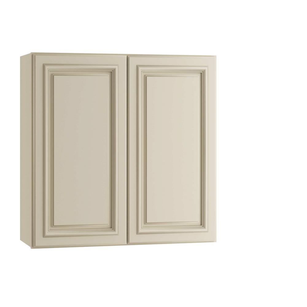 Home Decorators Collection 24x30x12 in. Holden Assembled Wall Double Doors Cabinet in Bronze Glaze