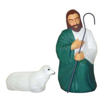 Shepherd with One Sheep Statues for C3680