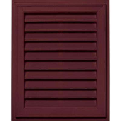 20 in. x 30 in. Brickmould Gable Vent in Wineberry