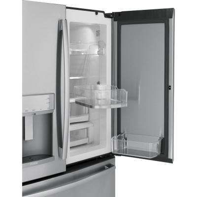 35.75 in. W 27.8 cu. ft. French Door Refrigerator with Door in Door in Stainless Steel, ENERGY STAR