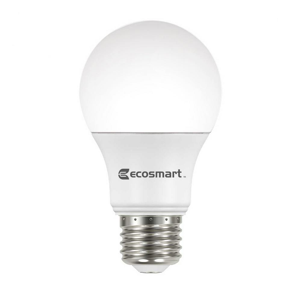 Led Light Bulbs For Home: EcoSmart 60-Watt Equivalent A19 Non-Dimmable Basic LED
