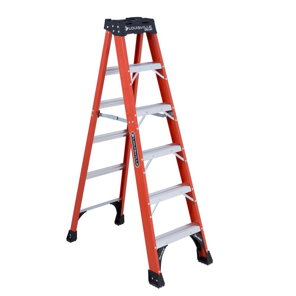 6 ft. Fiberglass Step Ladder with 375 lbs. Load Capacity Type
