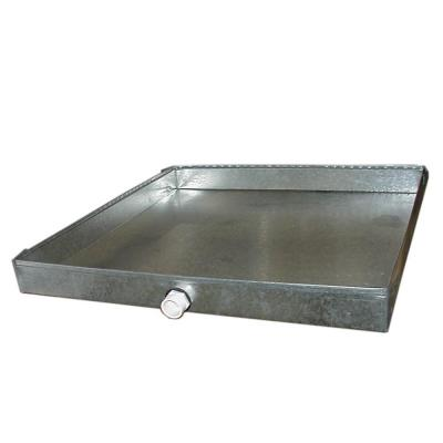 32 in. x 32 in. 26-Gauge Drain Pan with PVC Connector