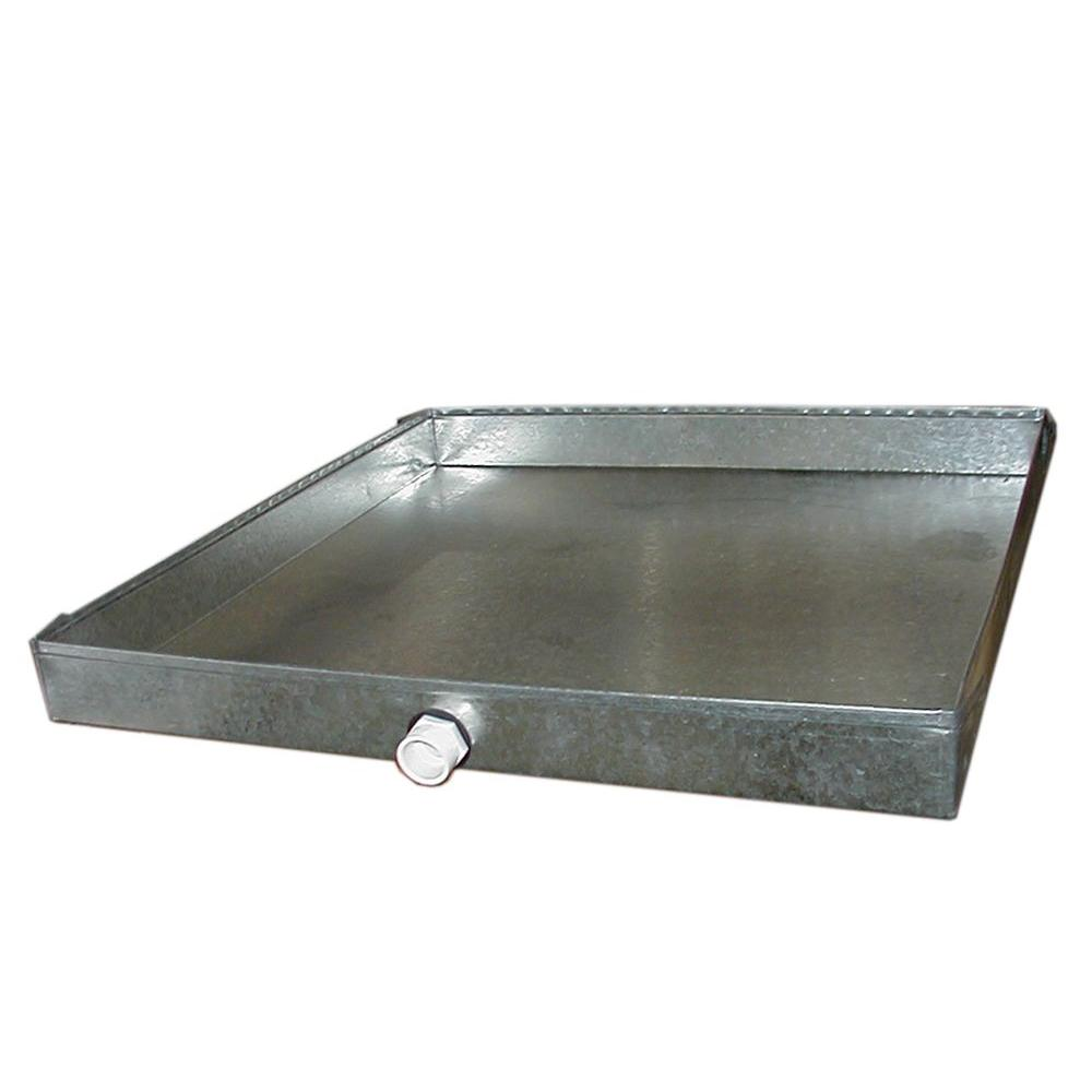 48 in. x 24 in. Drain Pan with PVC Connector -