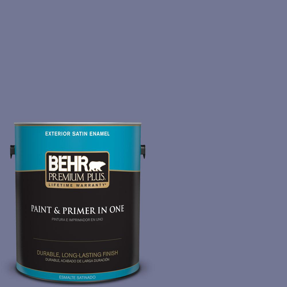 BEHR Premium Plus 1-gal. #S560-5 Royal Fortune Satin Enamel Exterior Paint