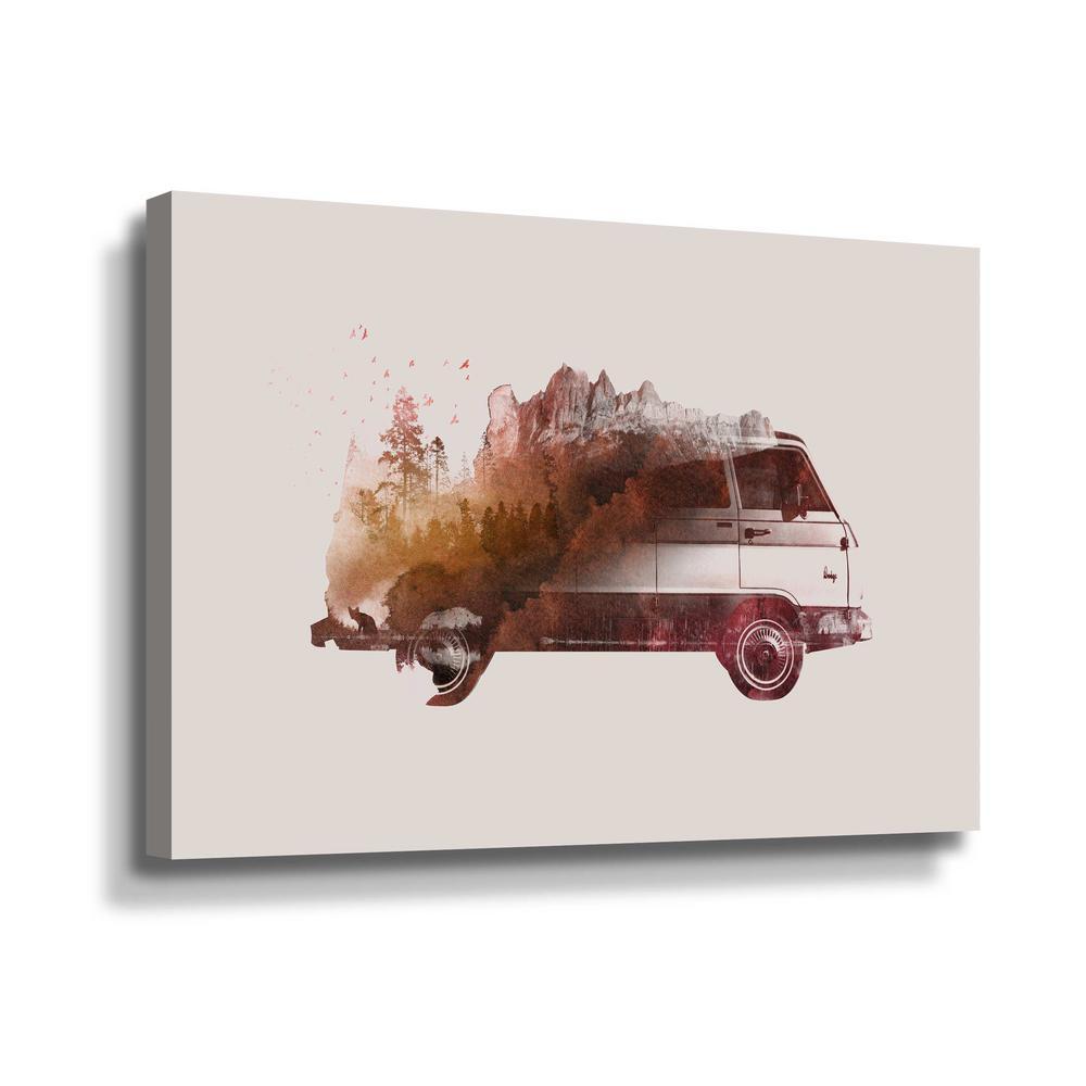 'Drive me back home no.1' by  Robert Farkas Canvas Wall Art