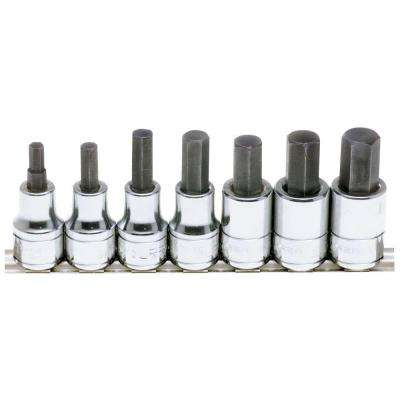 1/2 in. Drive Hex Tip Socket Set (7-Piece)