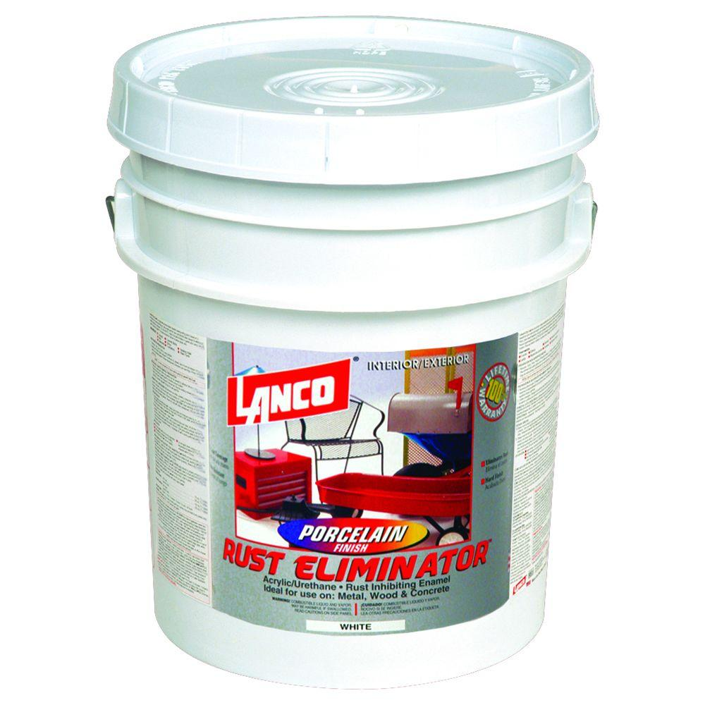 5 Gal. Porcelain Oil-Based White Interior/Exterior Rust Eliminator Paint