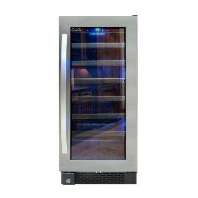 Designer Series 34 Bottle Seamless Wine Cooler in Stainless Steel