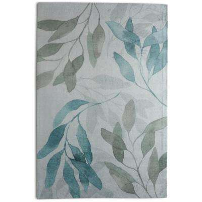 Meadow Contemporary Floral Teal 5 ft. x 7 ft. Area Rug