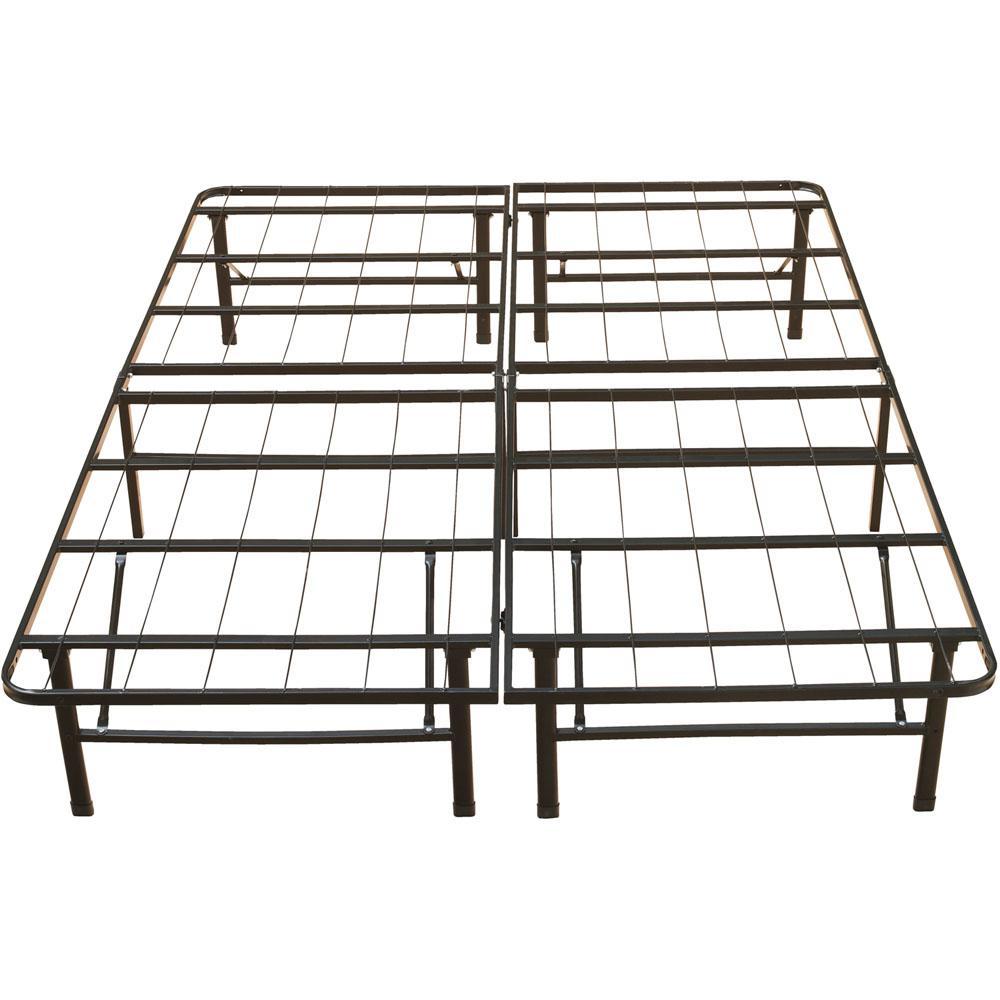 Homesullivan calabria bronzed black twin bed frame for Black twin bed frame
