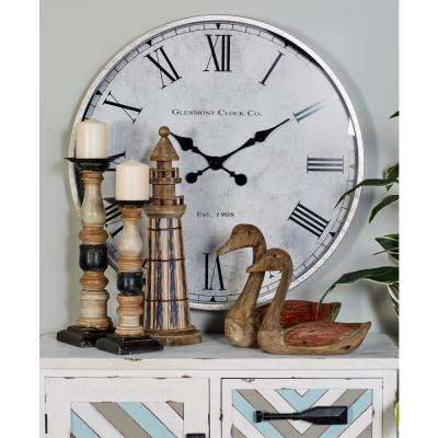 Multi-Colored Contemporary Analog Wall Clock